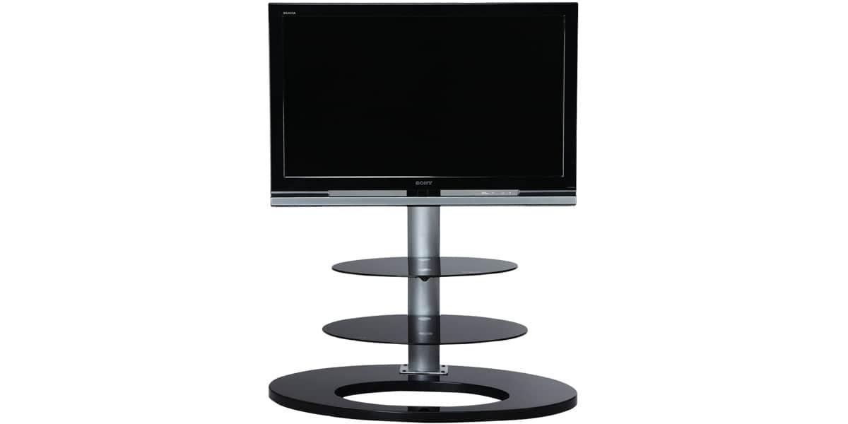 Ateca ellipse meuble tv noir solutions pour la for Meuble tv ellipse 00381