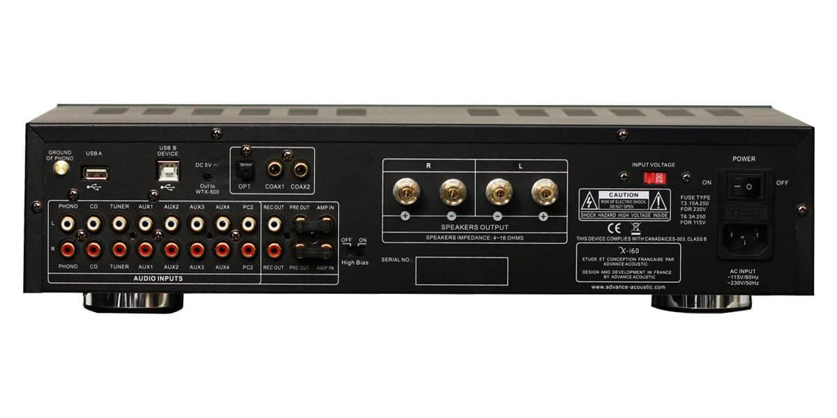 advance acoustic x i60 noir amplis hifi int gr s sur. Black Bedroom Furniture Sets. Home Design Ideas