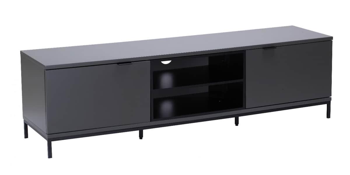 Alphason chaplin 1600 gris fonc meubles tv alphason sur for Meuble tv gris fonce