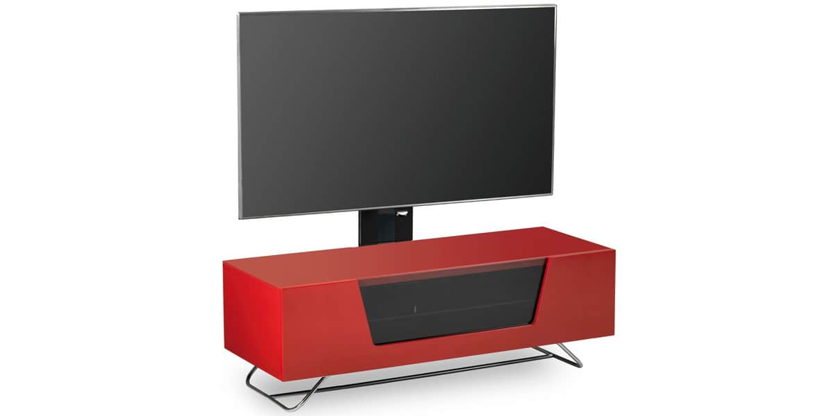 Alphason chromium potence 1200 rouge easylounge for Meuble tv rouge
