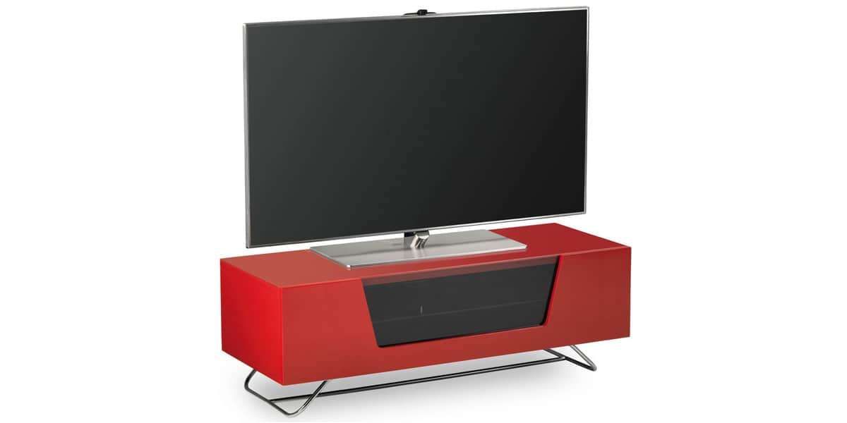Alphason chromium 1200 rouge meubles tv alphason sur for Meuble tv rouge but