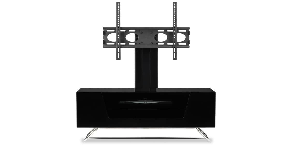 Alphason chromium 2 cantilever noir easylounge for Meuble tv avec support