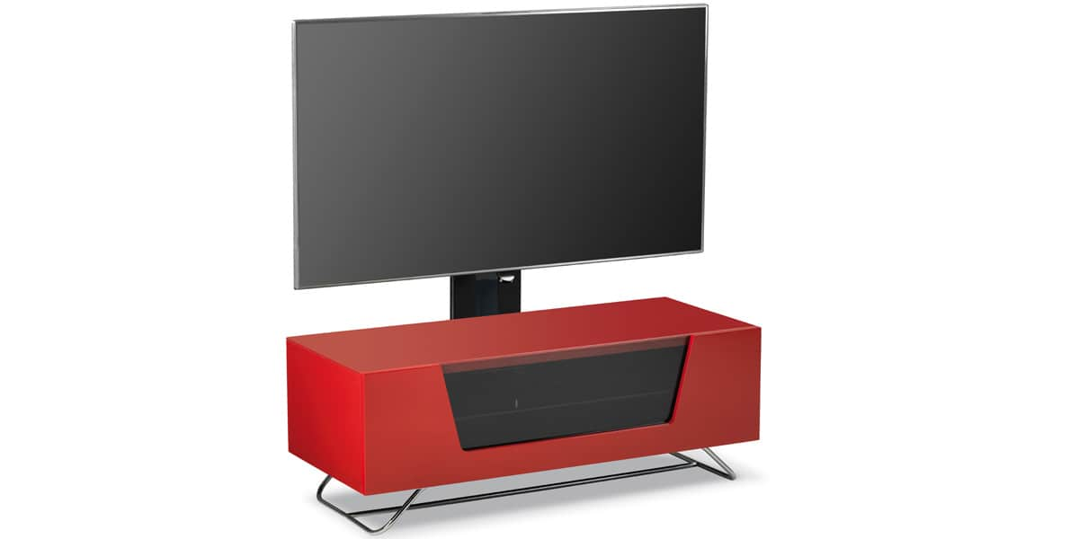 Alphason chromium 2 cantilever rouge easylounge for Meuble tv rouge