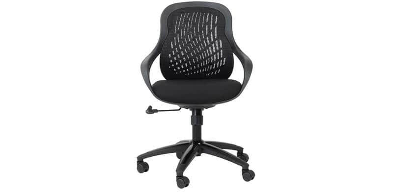 Alphason Office Croft tissu noir
