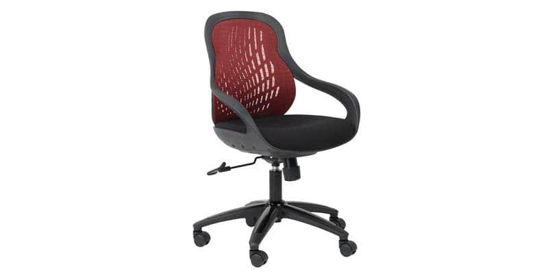 Alphason Office Croft tissu rouge