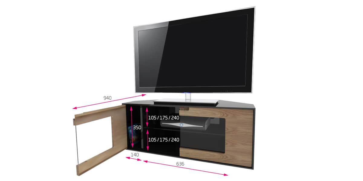 Meubles tv d angle design for Meuble tele angle design