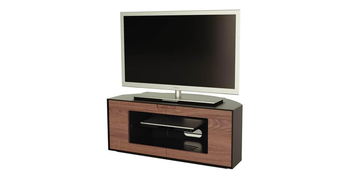 Alphason contour 1000 noyer meubles tv alphason sur for Meuble tv angle noir
