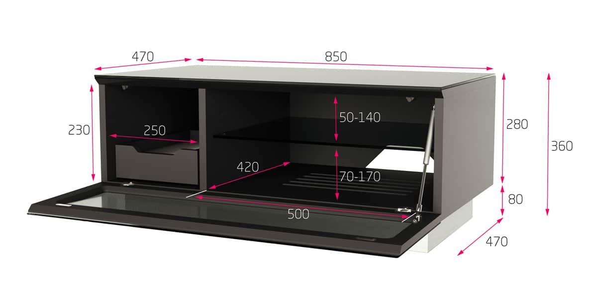 alphason element 850 noir meubles tv alphason sur easylounge. Black Bedroom Furniture Sets. Home Design Ideas