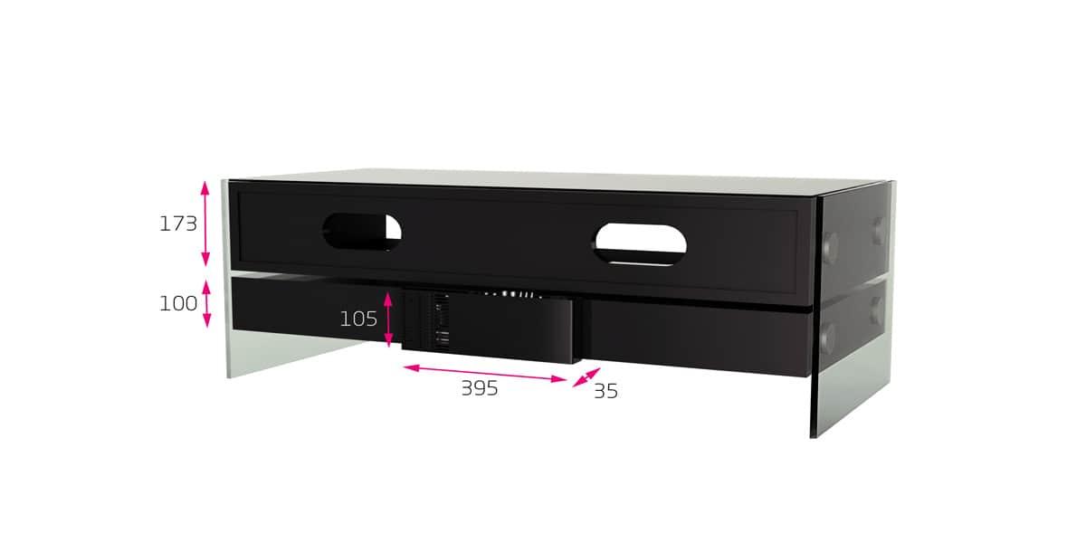 Alphason event meubles tv alphason sur easylounge - Meuble tv avec enceinte integre ...