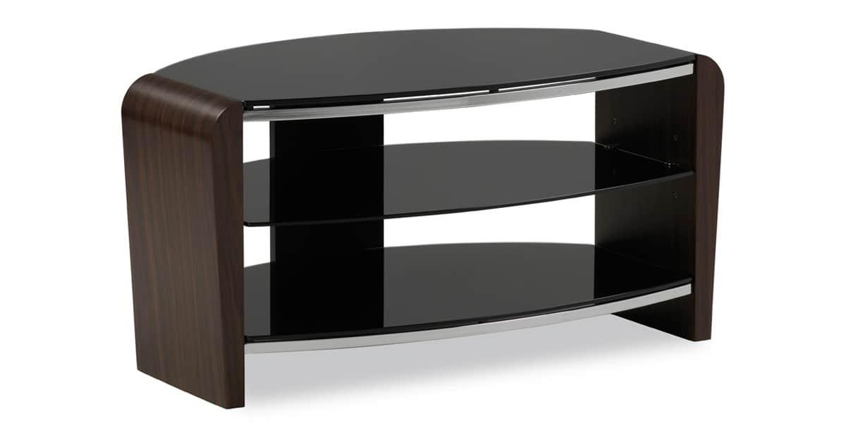 Alphason francium 800 noyer meubles tv alphason sur for Meuble tv noyer