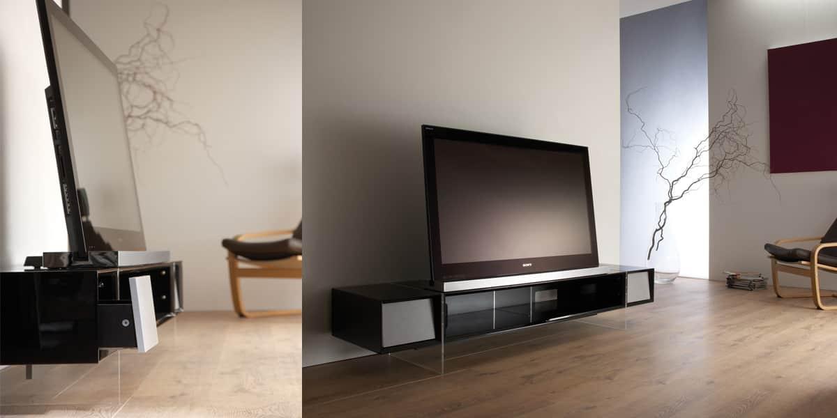 alphason yatai 1870 noir meubles tv alphason sur easylounge. Black Bedroom Furniture Sets. Home Design Ideas