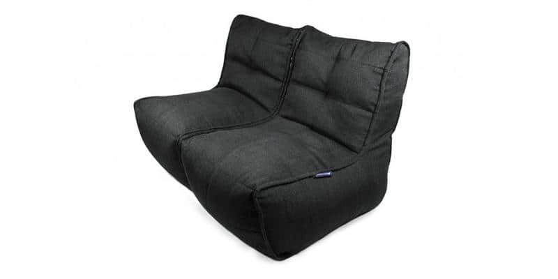 Ambient lounge Twin Couch Black