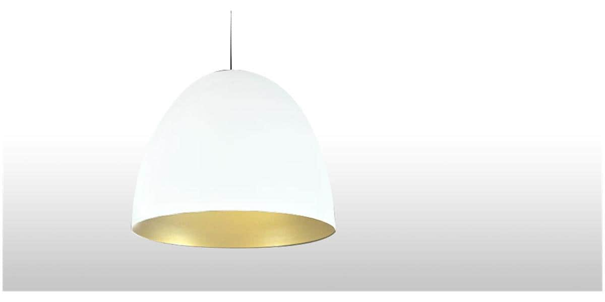 Coti design angela blanc or suspensions luminaires sur for Luminaire suspension blanc
