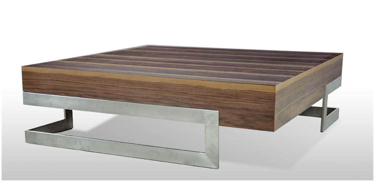 Coti design antalia bois acier tables basses sur easylounge for Table basse bois design
