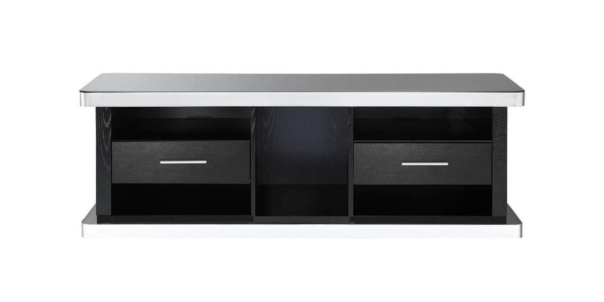 Ateca at937 bois noir meubles tv ateca sur easylounge - Meuble tv bois noir ...