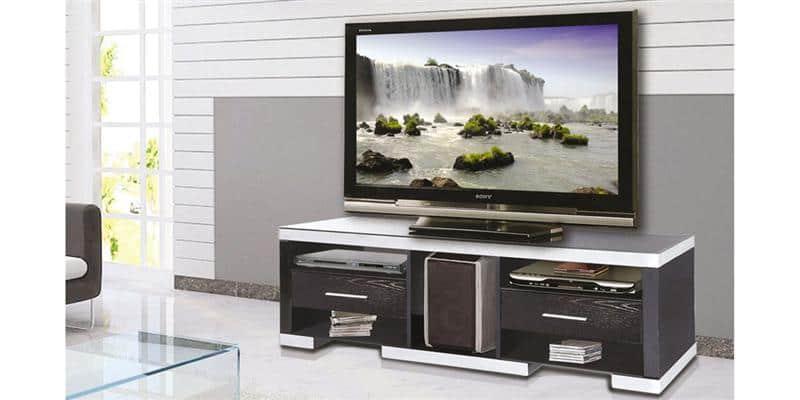 ateca at937 bois noir meubles tv ateca sur easylounge. Black Bedroom Furniture Sets. Home Design Ideas