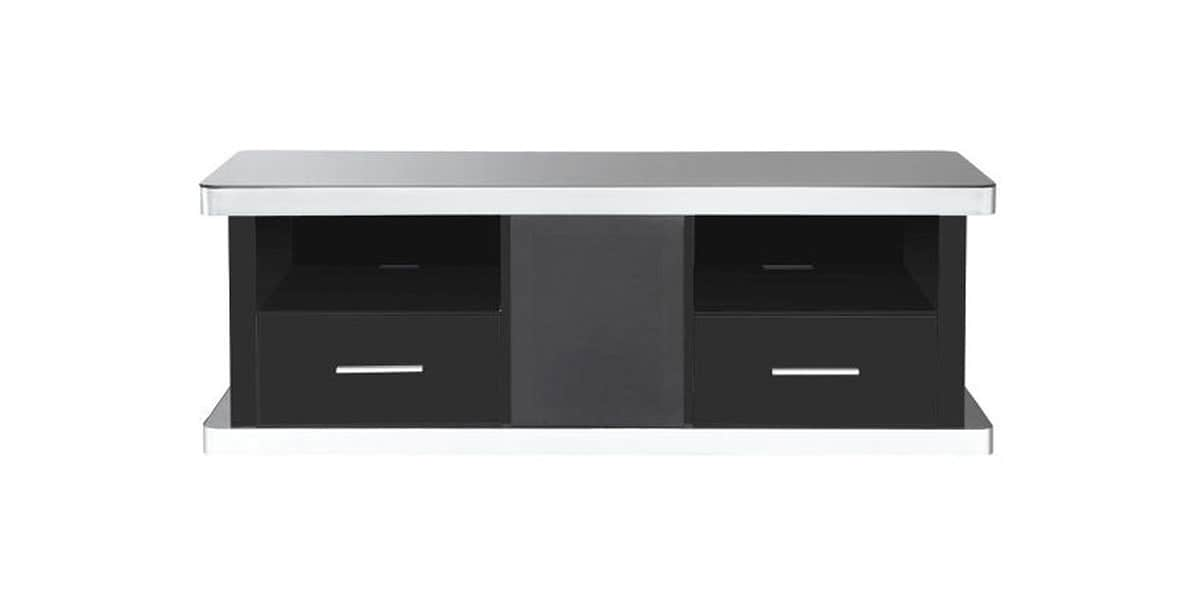 ateca at945 bois noir meubles tv ateca sur easylounge. Black Bedroom Furniture Sets. Home Design Ideas