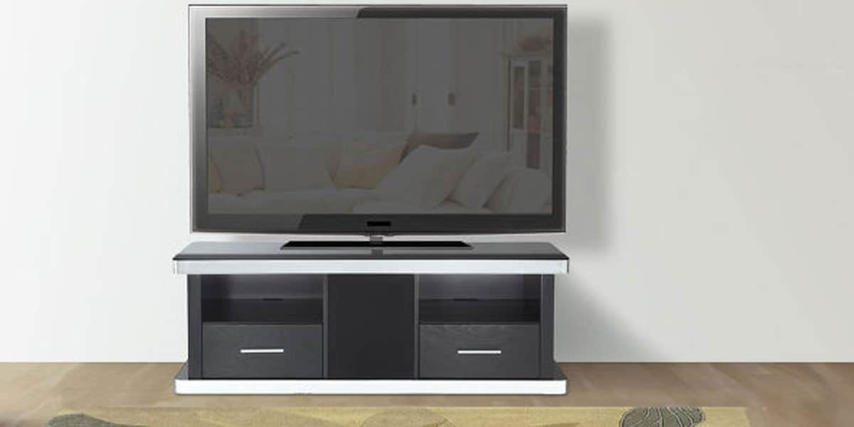 Ateca Vision Meuble Tv Noir : Ateca At945 Bois Noirmeubles Tv Ateca Sur Easylounge