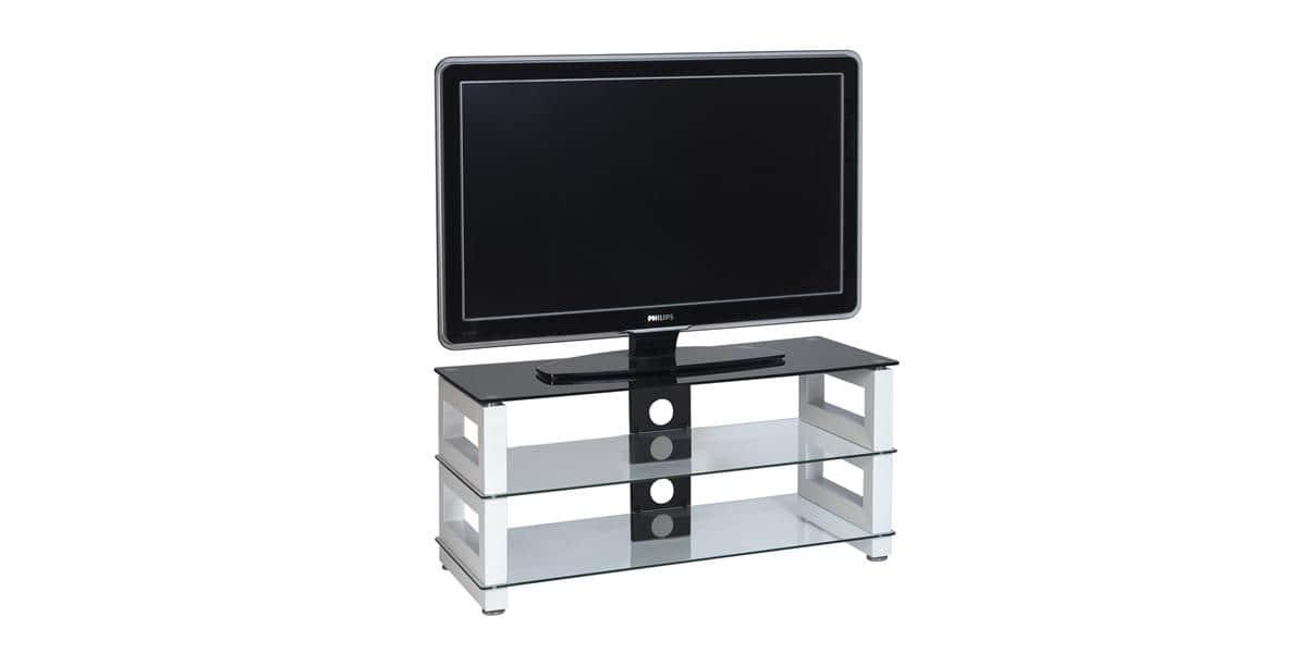 ateca op ra 221 blanc meubles tv sur easylounge. Black Bedroom Furniture Sets. Home Design Ideas
