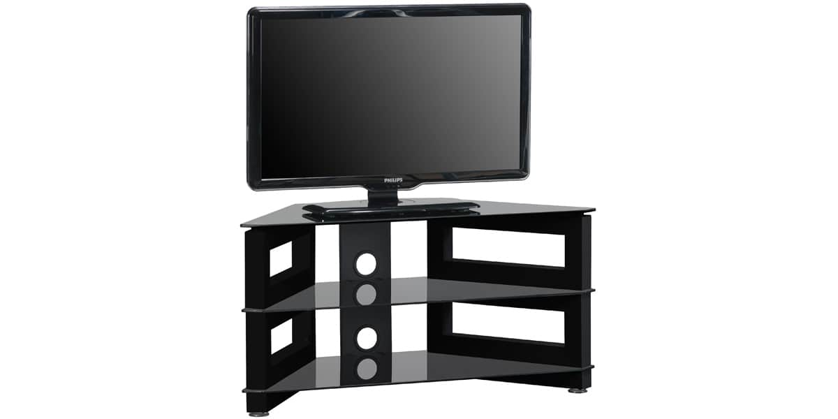Meuble tv d 39 angle chez but for Meuble tv angle noir