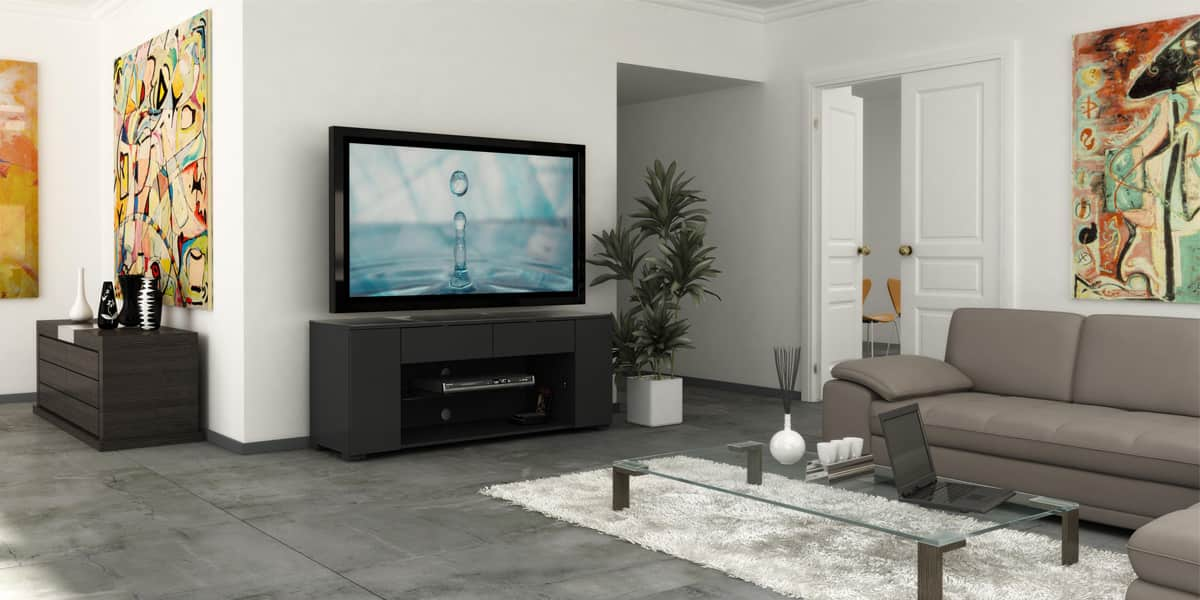 ateca luxe 281 meubles tv ateca sur easylounge. Black Bedroom Furniture Sets. Home Design Ideas