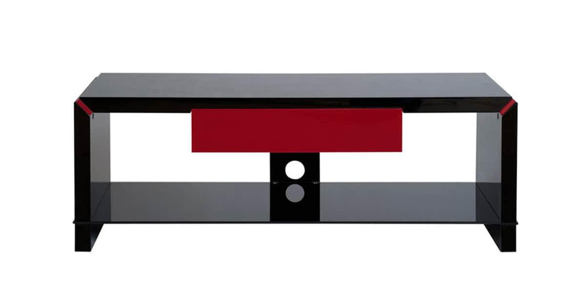 Ateca elegance noir rouge meubles tv ateca sur easylounge - Meuble tv noir et rouge ...