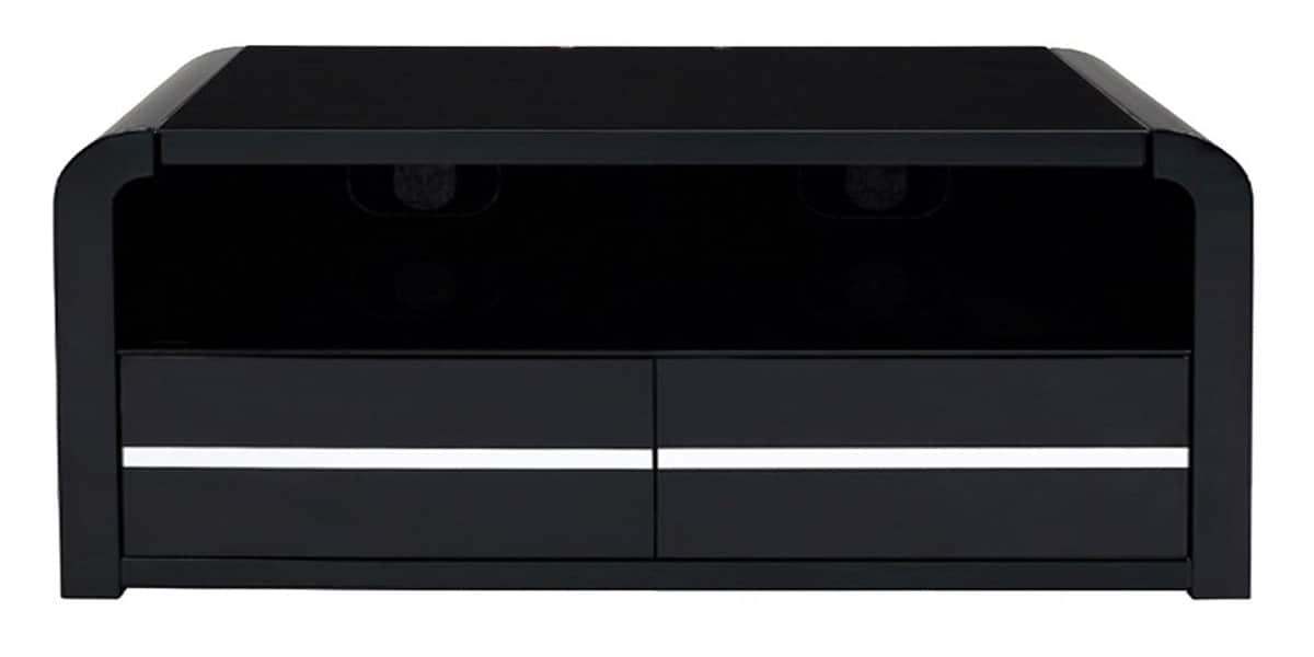 Ateca aurora 1000 noir meubles tv ateca sur easylounge for Petit meuble tv noir