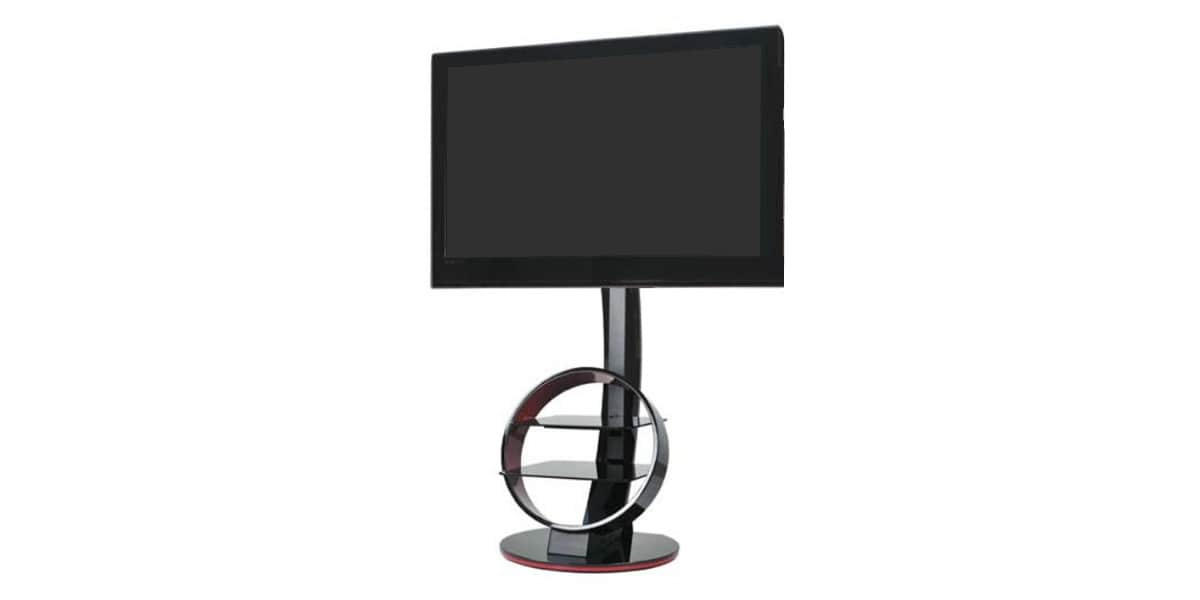 Meuble Tv Ateca Circle : Support Tv Sur Pied Orientable Et Inclinable Ateca Circle Noir