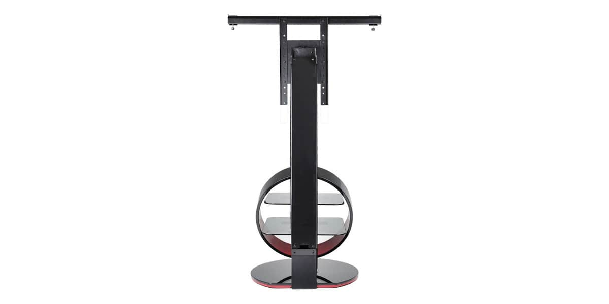 Meuble Tv Ateca Graphic : Support Tv Sur Pied Orientable Et Inclinable Ateca Circle Noir