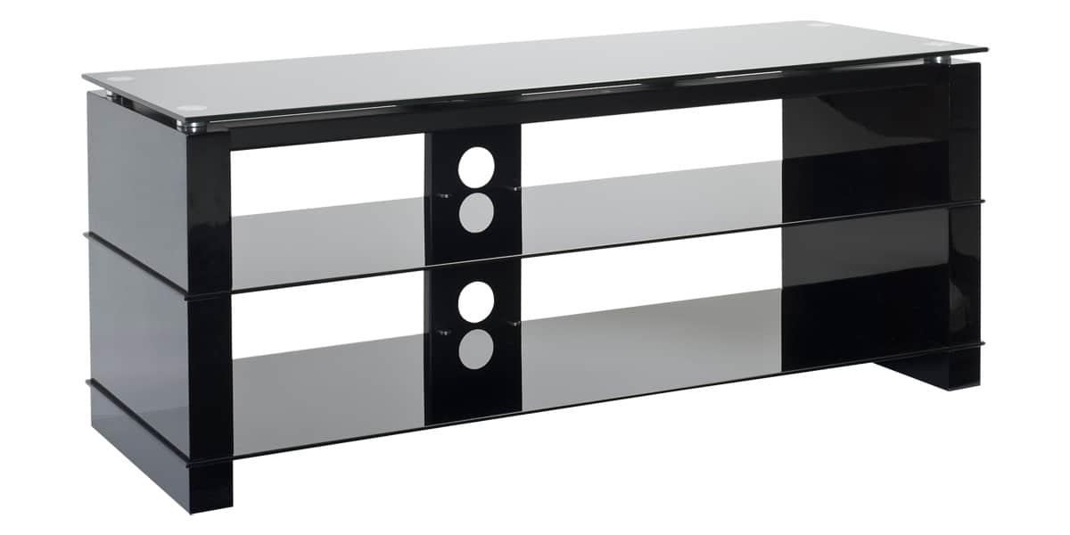 ateca cristal 372 noir meubles tv sur easylounge. Black Bedroom Furniture Sets. Home Design Ideas