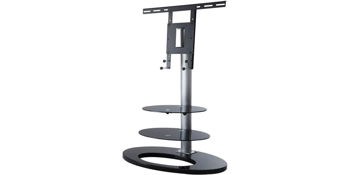 ateca ellipse 381 noir supports tv sur pied sur easylounge. Black Bedroom Furniture Sets. Home Design Ideas