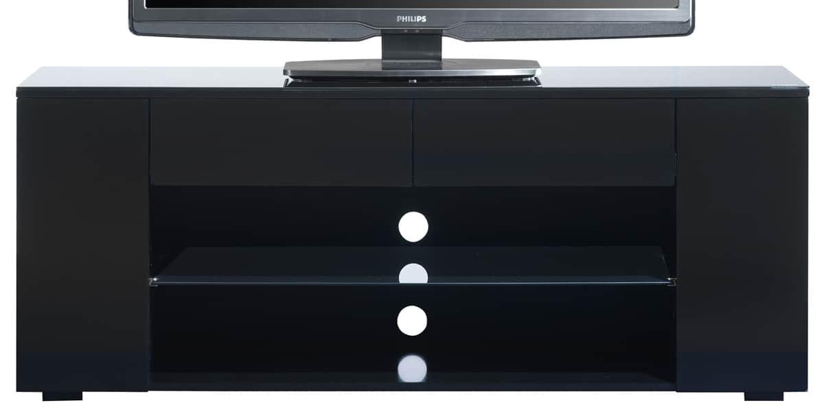 Ateca luxe noir meubles tv ateca sur easylounge for Meuble tv grande taille