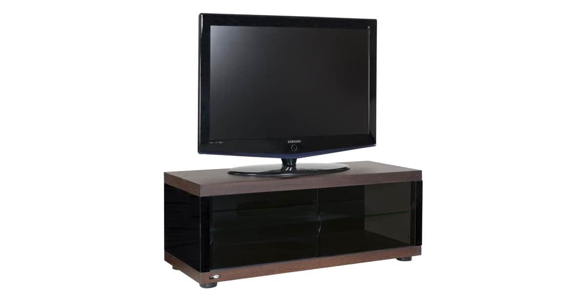 Ateca melody noir et bois meubles tv ateca sur easylounge - Meuble tv infrarouge ...