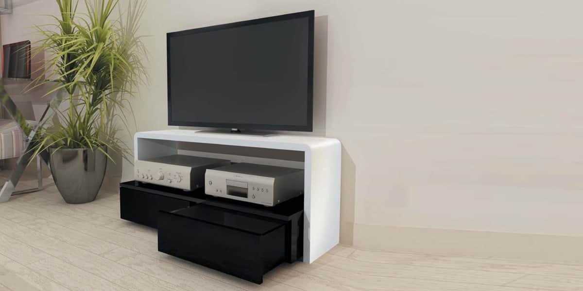Meuble Tv Ateca Arche : Meuble Tv Ateca Arche Blanc Et Noir