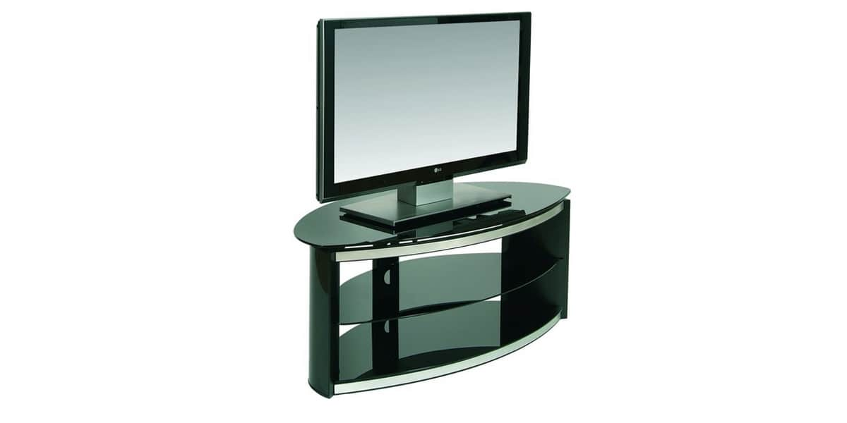 Ateca rondo noir meubles tv ateca sur easylounge for Meuble tv ellipse 00381