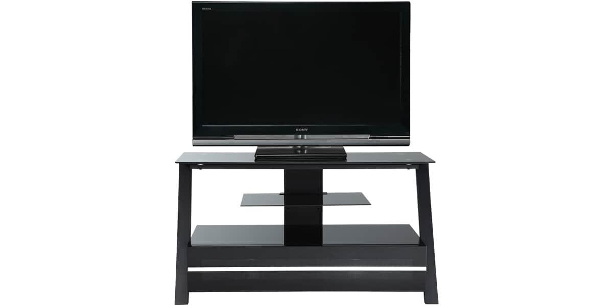 ateca silhouette 384 noir meubles tv ateca sur easylounge. Black Bedroom Furniture Sets. Home Design Ideas