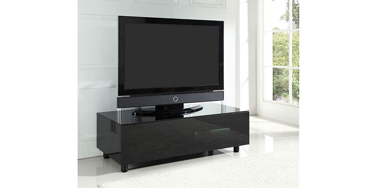 Ateca at11bp002 noir le meuble tv id al pour assurer for Meuble tv ellipse 00381