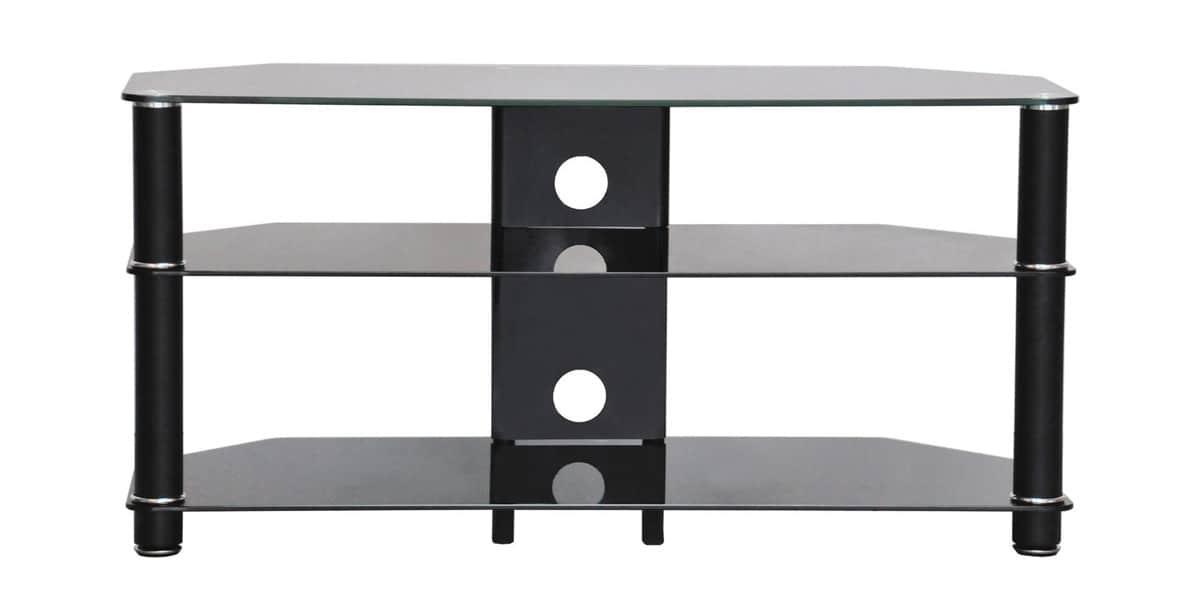 Ateca simply 1000 noir meubles tv ateca sur easylounge - Meuble tv verre trempe noir ...