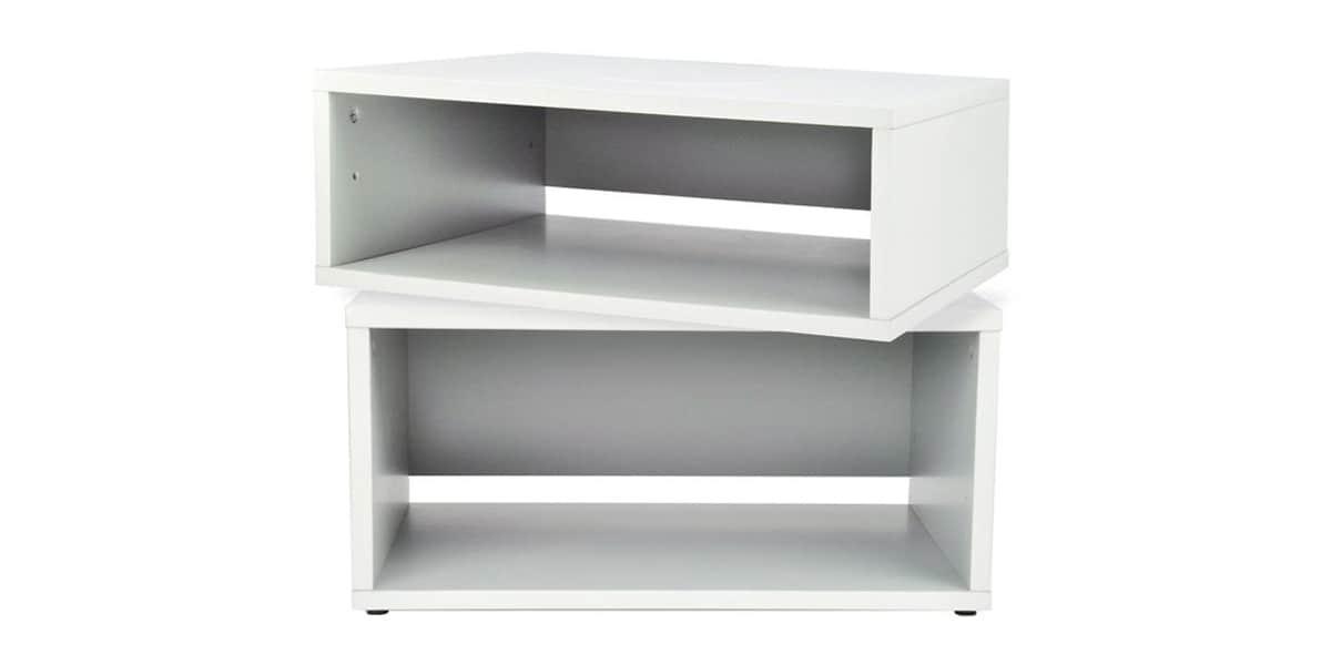 ateca turnbox set blanc meubles tv ateca sur easylounge - Meuble Tv Bas Ateca Turnbox S Blanc