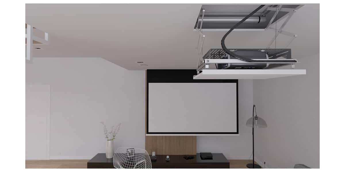 Av concept alulift 155 supports vid oprojecteurs sur easylounge - Support videoprojecteur plafond encastrable ...
