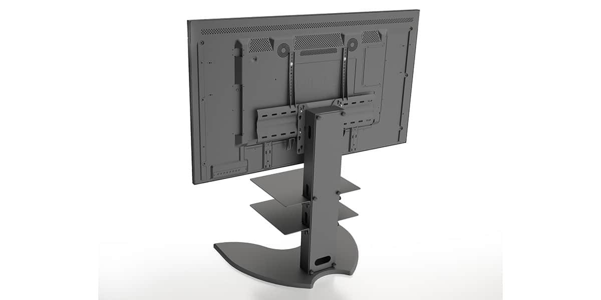 axeos easyx mini noir sabl supports tv sur pied sur easylounge. Black Bedroom Furniture Sets. Home Design Ideas