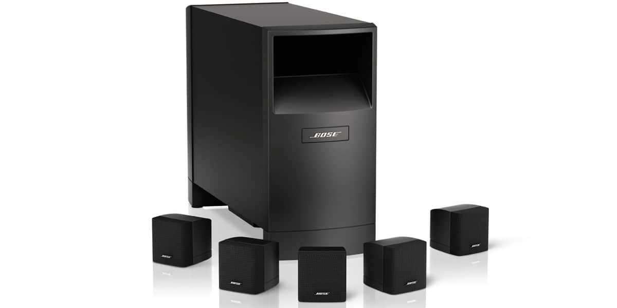 bose acoustimass 6 noir packs enceintes home cin ma sur. Black Bedroom Furniture Sets. Home Design Ideas