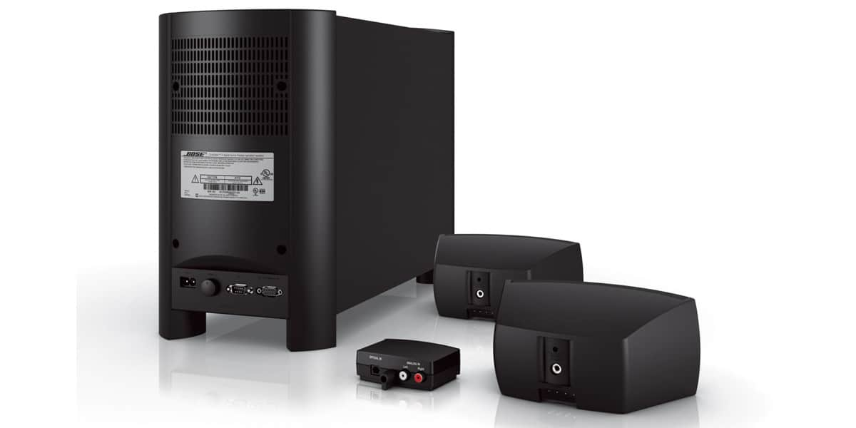 bose cinemate gs ii noir packs home cin ma complets sur easylounge. Black Bedroom Furniture Sets. Home Design Ideas