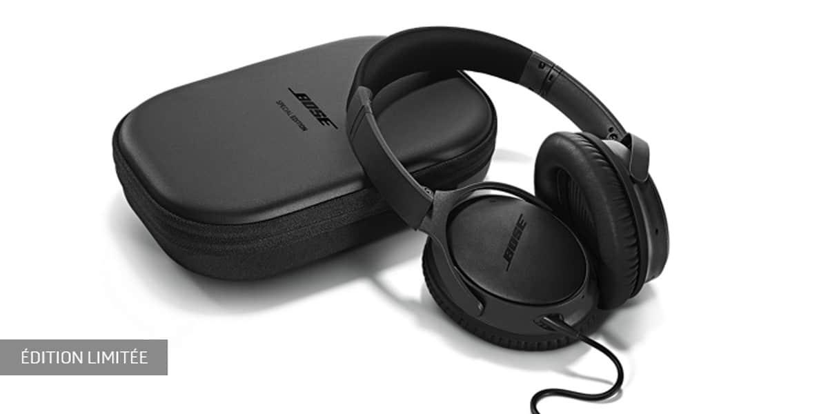bose qc25 apple triple black casques audio nomades sur easylounge. Black Bedroom Furniture Sets. Home Design Ideas