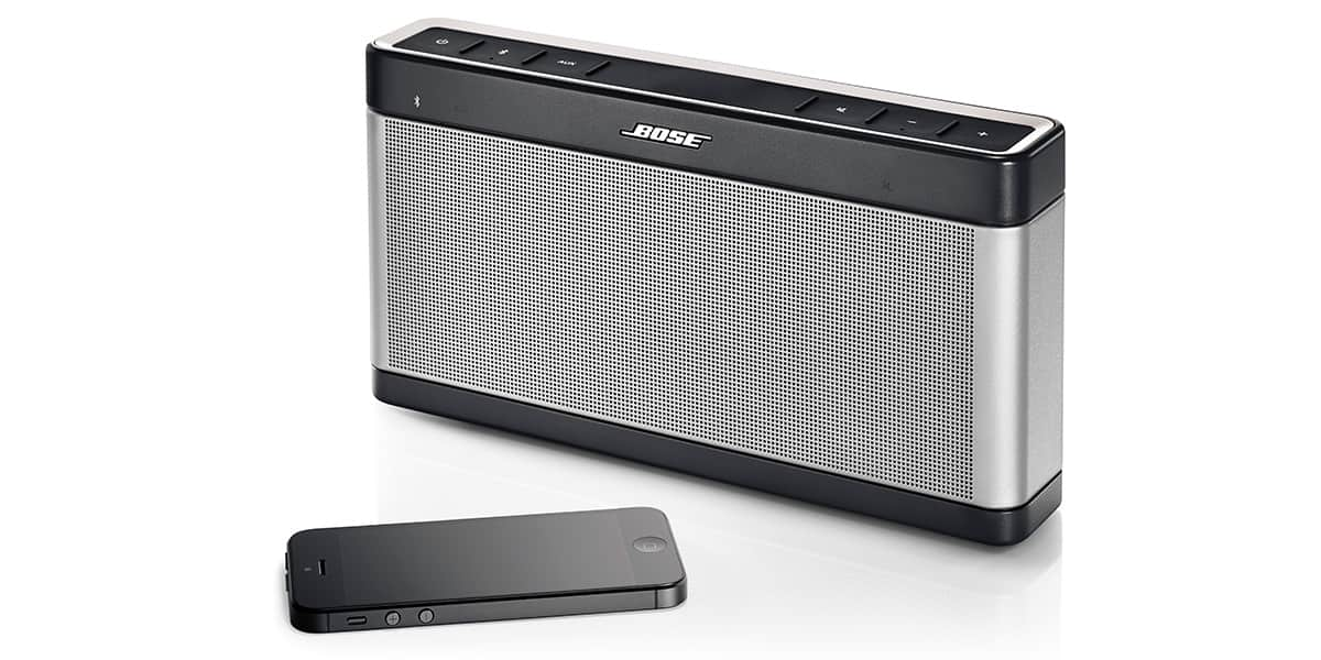 Enceinte Portable Bluetooth Bose SoundLink III ~ Enceinte Bluetooth Bois