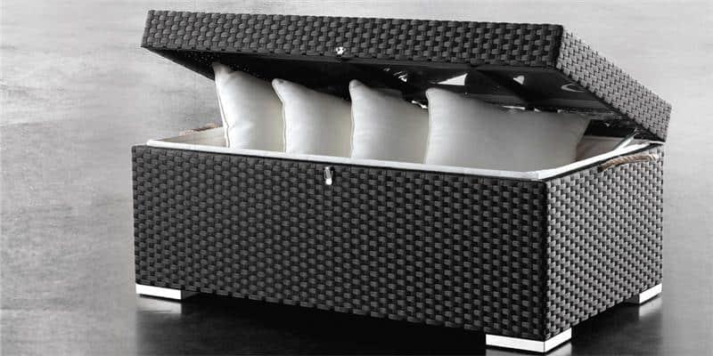 Coti design coffre adora d coration ext rieure sur for Coffre de rangement exterieur resine tressee