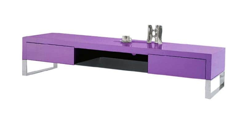 Coti design dandy violet meubles tv divers sur easylounge - Meuble tv violet ...