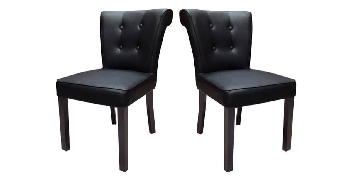 coti design lot de 2 h l ne noir toutes les chaises sur easylounge. Black Bedroom Furniture Sets. Home Design Ideas