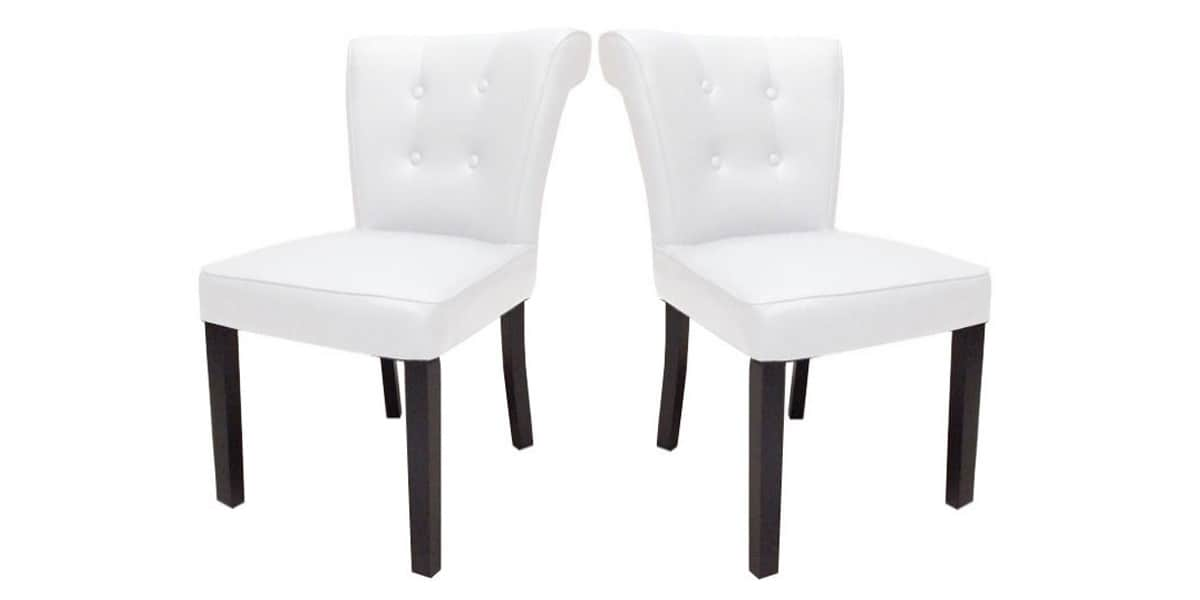 coti design lot 2 h l ne blanc toutes les chaises sur easylounge. Black Bedroom Furniture Sets. Home Design Ideas