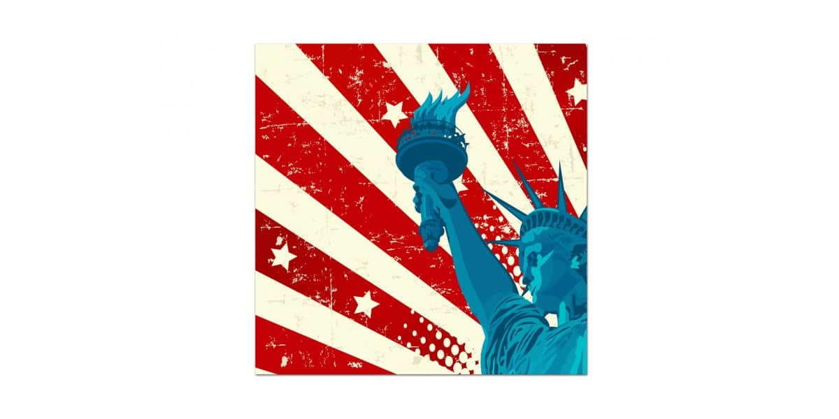 coti design american liberty 80 tableaux d coration sur easylounge. Black Bedroom Furniture Sets. Home Design Ideas